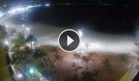 Cámara web en tiempo real Playa Grande en Las Canteras - Gran Canaria