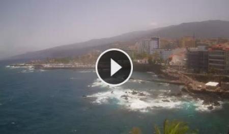Cámara web en directo Puerto de la Cruz - Playa San Telmo