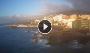 puerto de la cruz-san telmo beach-martianez-webcam canary islands-tenerife live